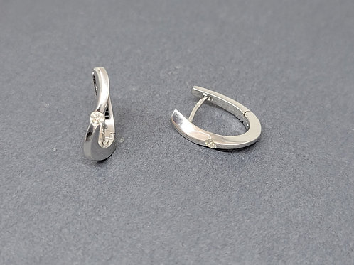 Hoops diamonds in white gold by Breuning