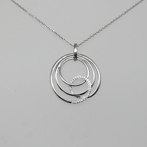 Pendant white sapphires in sterling silver by Breuning