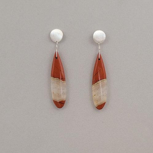 Earrings jasper in sterling silver.