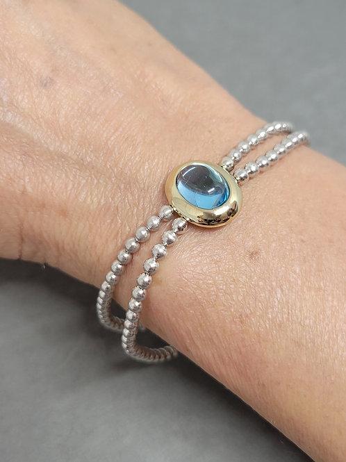 Bracelet blue topaz sterling silver by Breuning