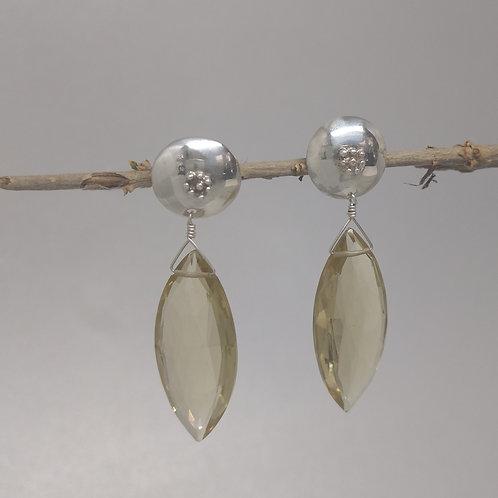 Earrings lemon quartz