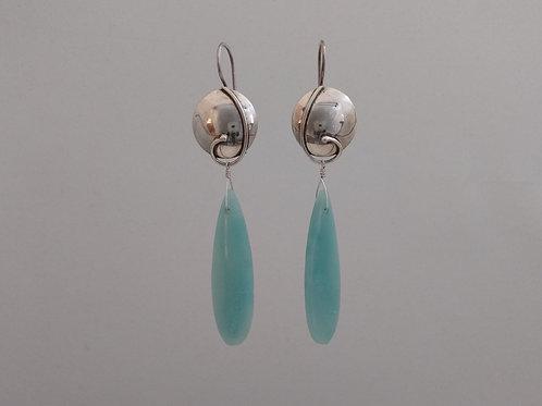Earrings amazonite drops in sterling silver