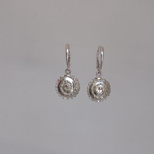 Spiral earrings in silver