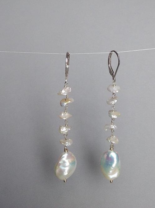 Earrings variety of white pearls