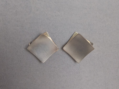 Earrings silver squares by Breuning