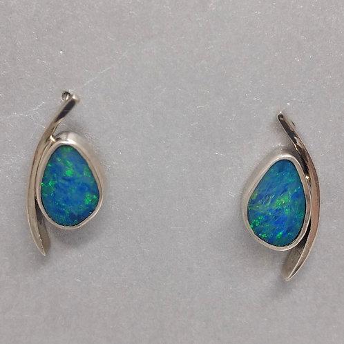 Opal Sterling Silver Earring