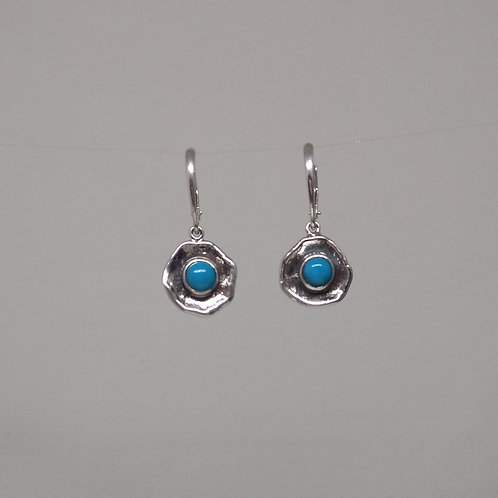 Earrings turquoise in sterling silver