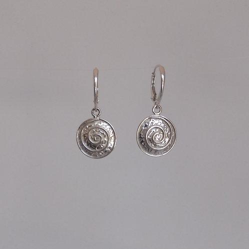 Earrings spirals in silver