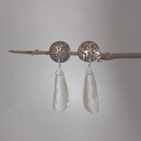 Earrings quartz drops