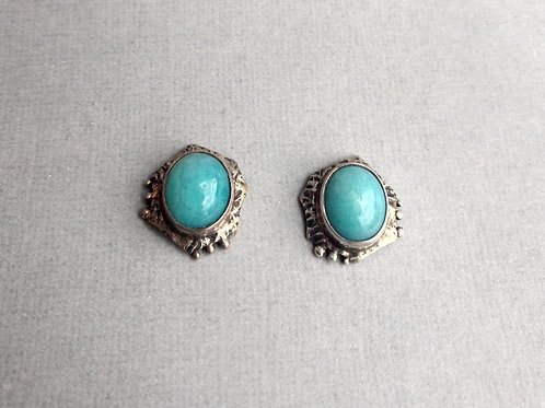 Earrings amazonite