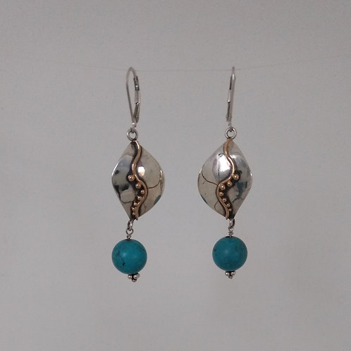 Earringss turquiose beads