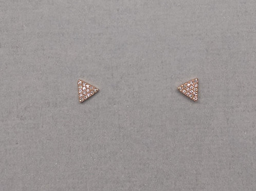 Earrings diamonds in rose gold