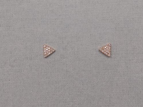 Earrings diamonds in rose gold