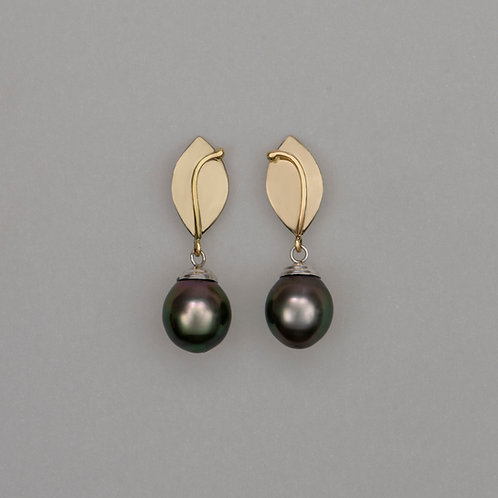 Earrings Tahitian pearls
