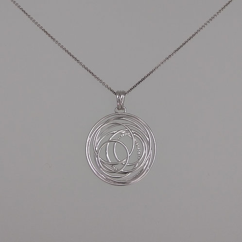 Pendant sterling white sapphires by Breuning