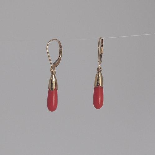 Earrings coral drops