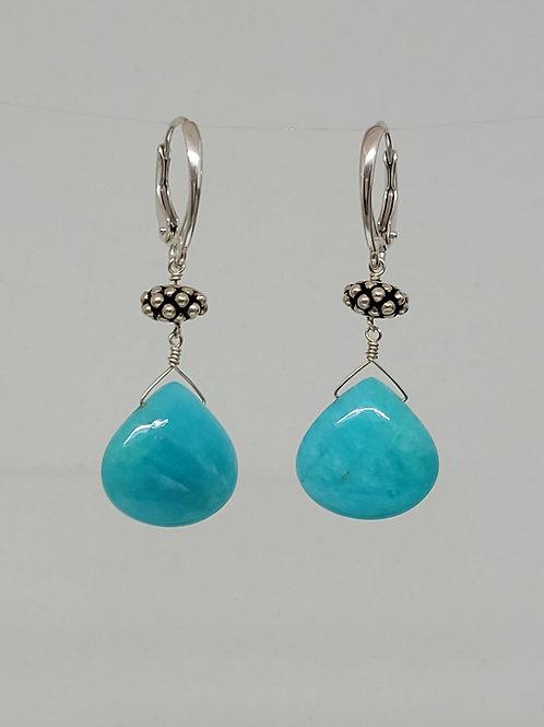Earrings amazonite sterling silver