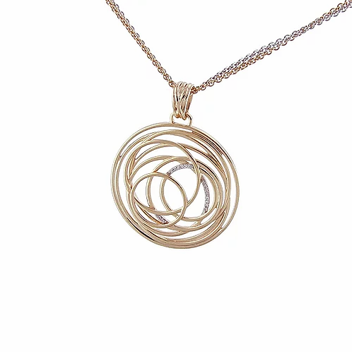 Pendant rose gold plate sterling silver by Breuning