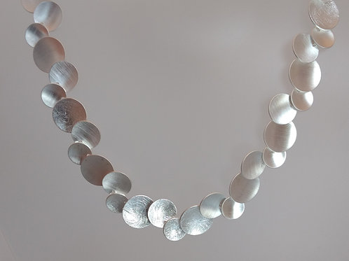 Necklace cirlces in sterling silver by Tezer