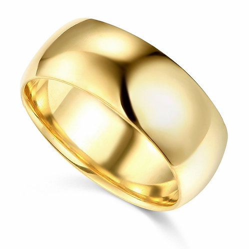 14k Yellow Gold 8-mm Comfort-fit Polished Wedding Band