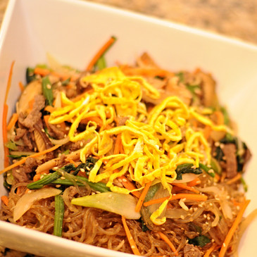 Korean Stir Fried Noodles (잡채, Jap-chae)