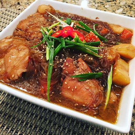 Instant Pot Korean Chicken Stew (닭찜, Dak-jjim)