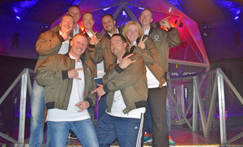 Game on: PJH, JLL and Earl Kendrick take on the Crystal Maze challenge.