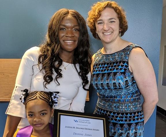 Deonna Jones receives 2019 M. Dolores Denman award