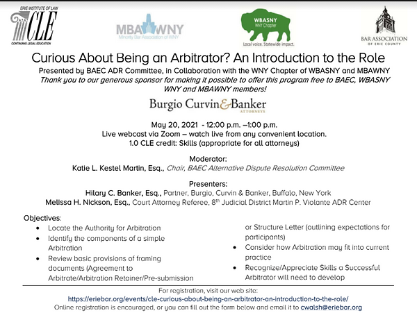 CLE - Curious about being an Arbitrator.
