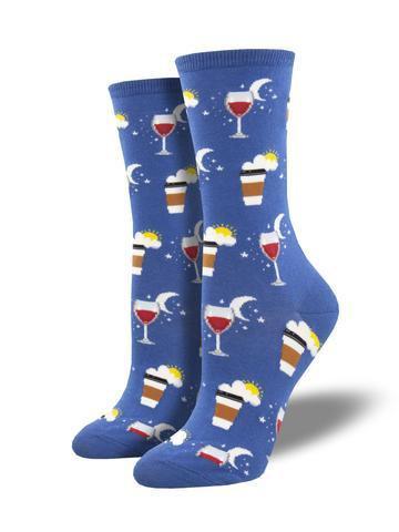Womens Days Work Blue Socks