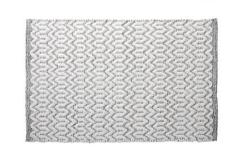 Bath Rug Morocco Gray/Ivory