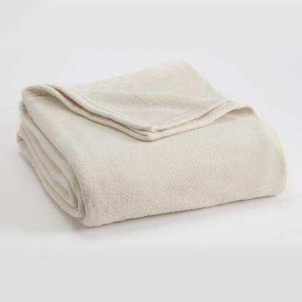 Vellux Fleece - TWIN - Winter White