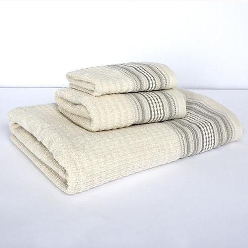 Amadora Bath Towel - Grey/Natural