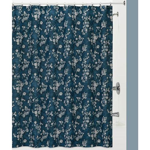 Shower Curtain Indigo Blossoms