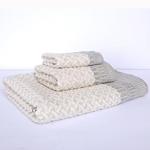 Porto Bath Towel - Grey/Natural
