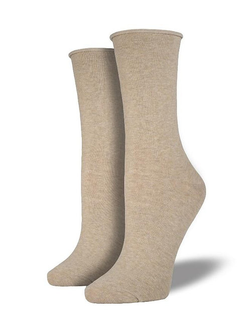 Womens Basic Comfort Crew Hemp Socks