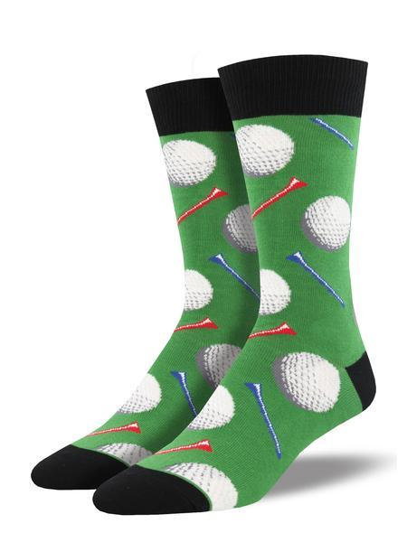Mens Tee it Up Green Socks