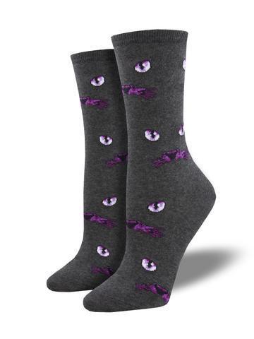 Womens Eyeing You Gray/Heather Socks