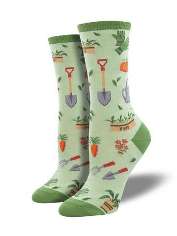 Womens Hoe Down Green Socks