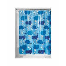 Shower Curtain Blue Moby