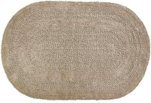 Bath Rug Serene Oval Taupe