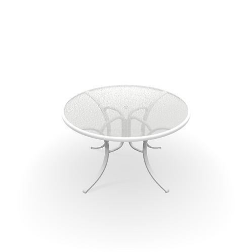 "48 "" WHITE TEXTURED TABLE"