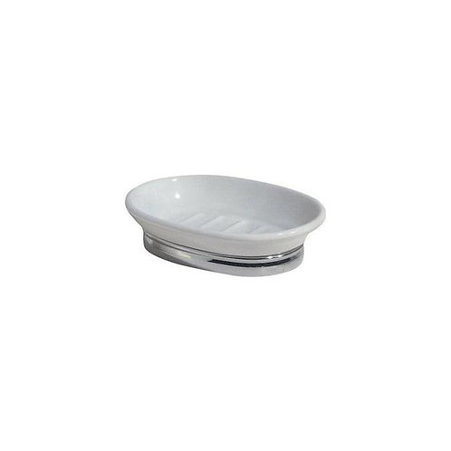 Soap Dish York White/Chrome