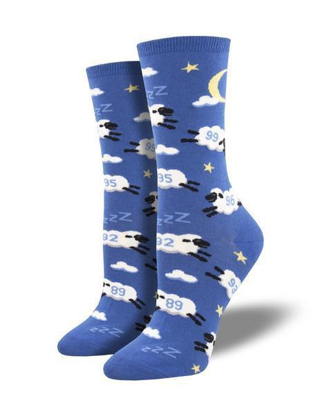 Womens Counting sheep Blue Socks