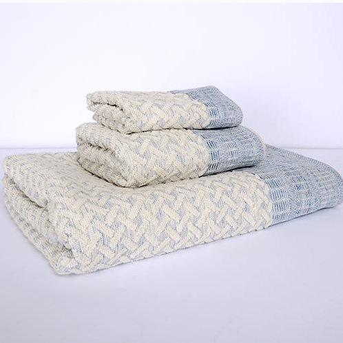 Porto Bath Towel - Blue/Natural