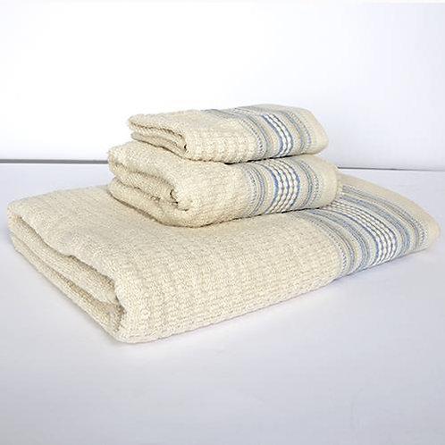 Amadora Bath Towel - Blue/Natural
