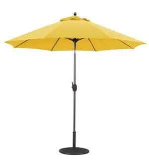Market Umbrella 9 FT WHT Pole/Yellow