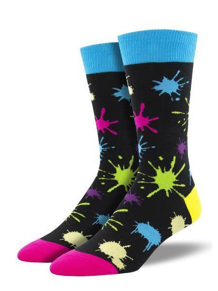 Mens Paintball Black Socks