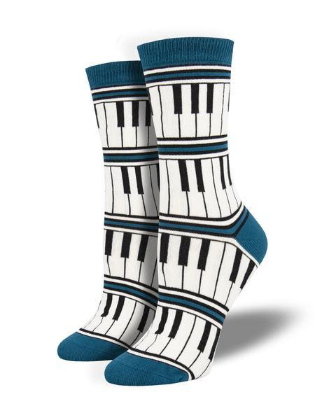 Womens Piano Stripe Socks