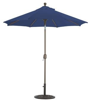 Market Umbrella Auto Tilt 7.5FT WHT/Pole/Navy Sunbrella